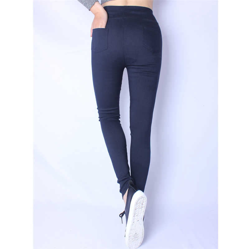 a48b7b0a03ccbf ... 2019 New Sexy Skinny Plus Size Leggings Women Legging Pocket Solid High  Waist Elastic Ankle- ...