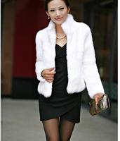 2018 fashion imitation fur rex rabbit coat winter women's fur coat long sleeved women's imitation rabbit fur jacket