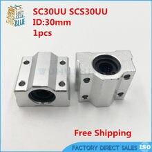 Frete grátis sc30uu scs30uu para 30mm linear trilhos de movimento linear bola slides unidades peças cnc guias lineares