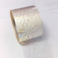 120M 4CM Classic Transparent Laser Sexy Beauty Nail Foil Transfer Nail Art Sticker White Holographic Effect