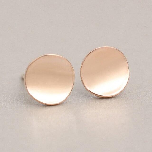Shiny Geometric Round Stud Earrings 3