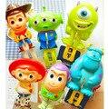 ( 6 Pcs / Lot) Plastic Cartoon Clips Bathroom Clips Itmes Toy Story Monsters University Big Clothes Clip