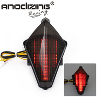 New Free Shipping Motorcycle For Yamaha YZF R1 YZF R1 2007 2008 Bike Tail Brake Light Turn Signal Running Light Smoke Rear Lamp