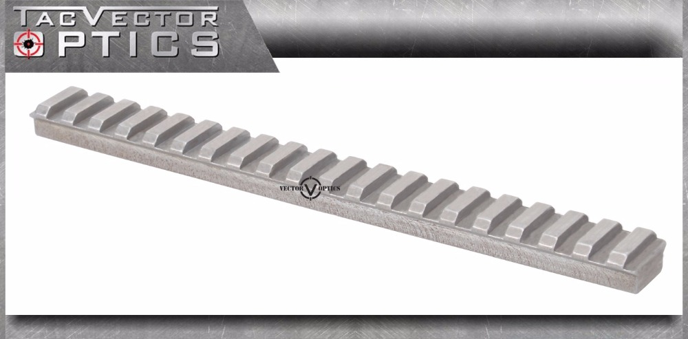 Vecteur optique tactique 20cm 8 pouces en acier longue portée plate 21mm Picatinny support de Rail Base blanc sans accessoires de pistolet de finition