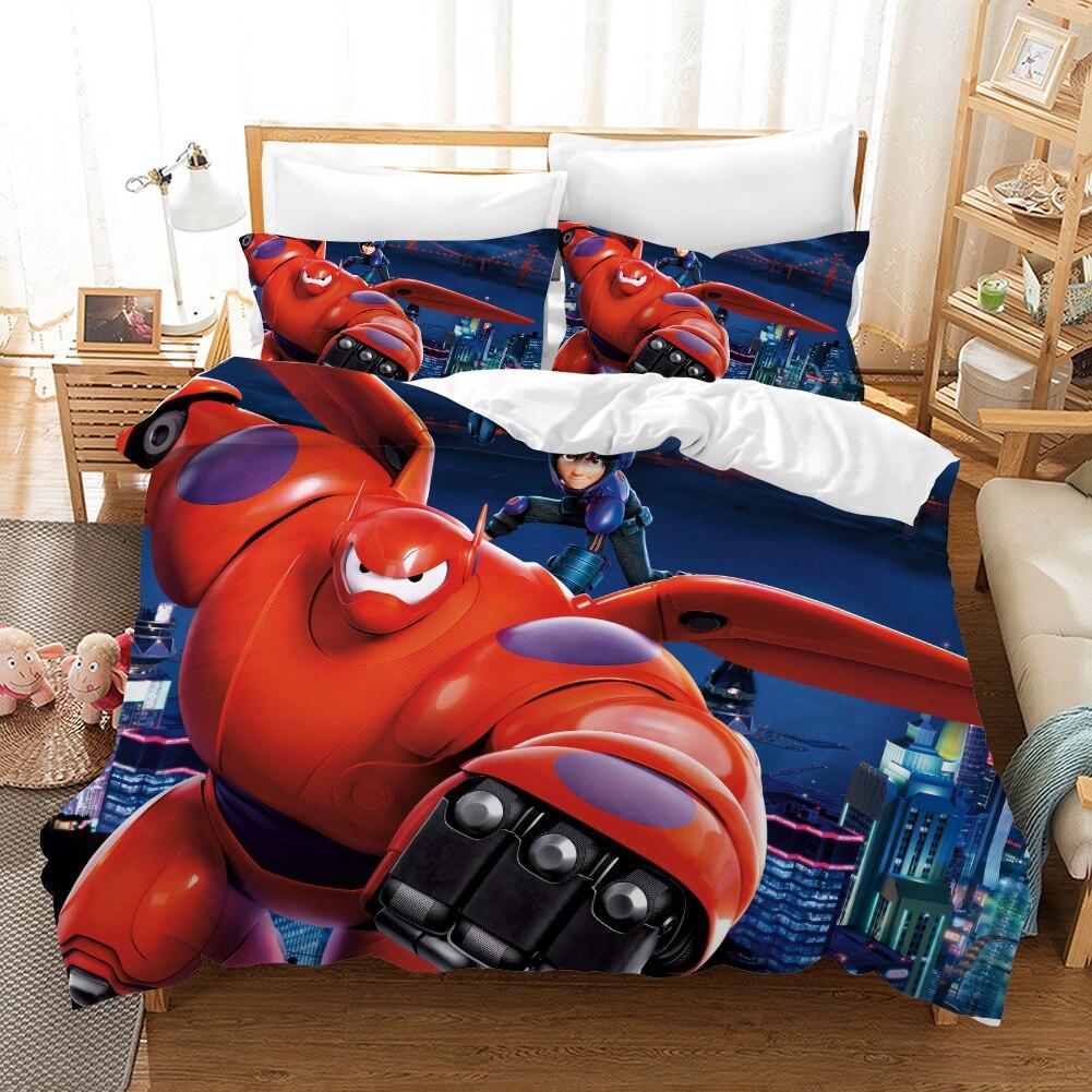 Big Hero 6 Baymax 3d Bedding Set Duvet Covers Pillowcases Hiro Hamada Room Decor Comforter Bedding Sets Bedclothes Bed Linen in Bedding Sets from Home Garden