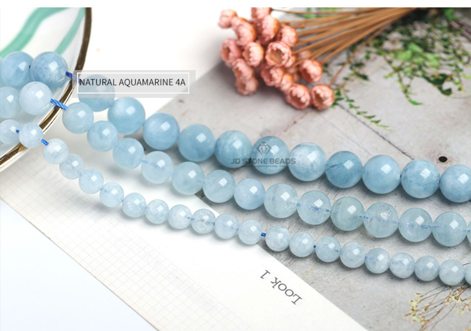 HTB1moCTXsvrK1Rjy0Feq6ATmVXaS 4 6 8 10 12 mm Natural Aquamarine loose Beads Free Shipping Faceted Blue Pick Szie  DIY Accessory Gemstone For Jewelry Making