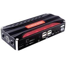 Автомобиль скачок стартер 12000 мАч Мощность банка 12 В автомобиля Зарядное устройство Портативный Booster чрезвычайных Авто 4 USB Multi-Функция Батарея скачок стартер