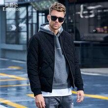 Enjeolon Brand Winter Cotton Padded Jacket Men Thick Geometr