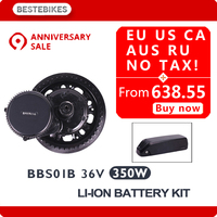 BBS01B 36 V 350 W мотор колеса batterie вело moteur electrique velo bafang электродвигателя 468WH/36v13ah LG2600 bbs01 ЕС США нет налога