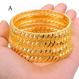 Wando 4Pcs Gold Color...