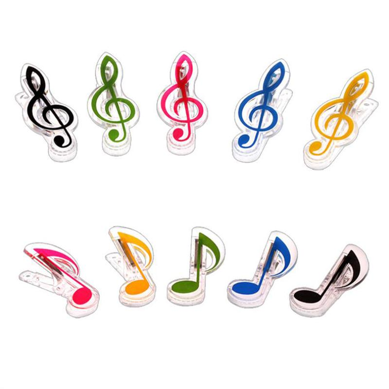 1 Pcs Plastic Music Book Page Clip Book Note Clip Treble Clef Clip Bookmarks Piano Clamps music clip staff page clip with music pattern