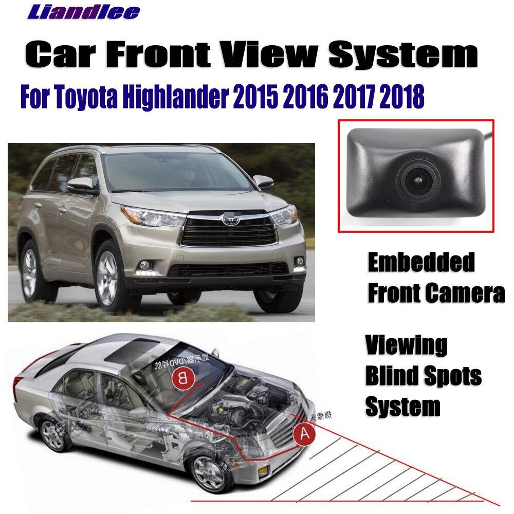Liandlee Câmera de Visão Dianteira Do Carro Para Toyota Highlander 2015 2016 2017 2018/4.3