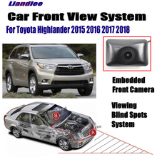 Liandlee Car Front View Camera For Toyota Highlander 2015 2016 2017 2018 / 4.3 LCD Screen Monitor Cigarette Lighter Switch