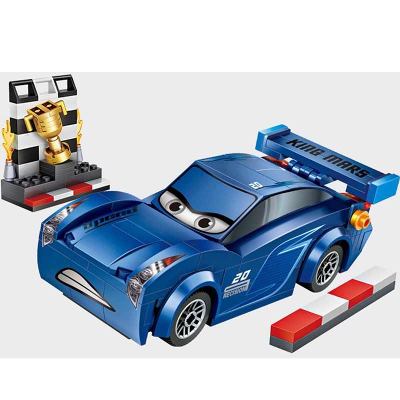 LOZ venta única Mini Jackson Storm DIY muñecas de dibujos animados ladrillos de diamantes coches azules bloques de construcción niños juguete para niños regalo 233 Uds