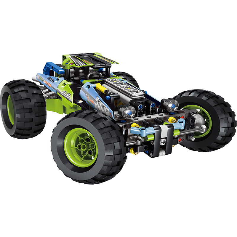 494 Pcs Technic City Series Off-roader Big Racer Car Building Blocks Educational Gift Toy for Children Compatible with LegoINGly lele 38000 technic city series drag racer car building block 647pcs diy educational toys for children compatible legoe