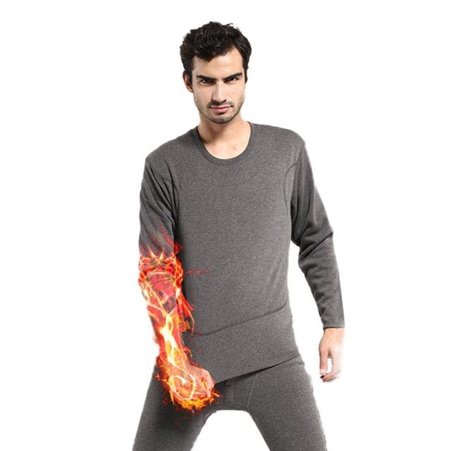 Nueva para Mens caliente del invierno suave polar interior térmica larga calzoncillos largos ropa de dormir pijamas Set