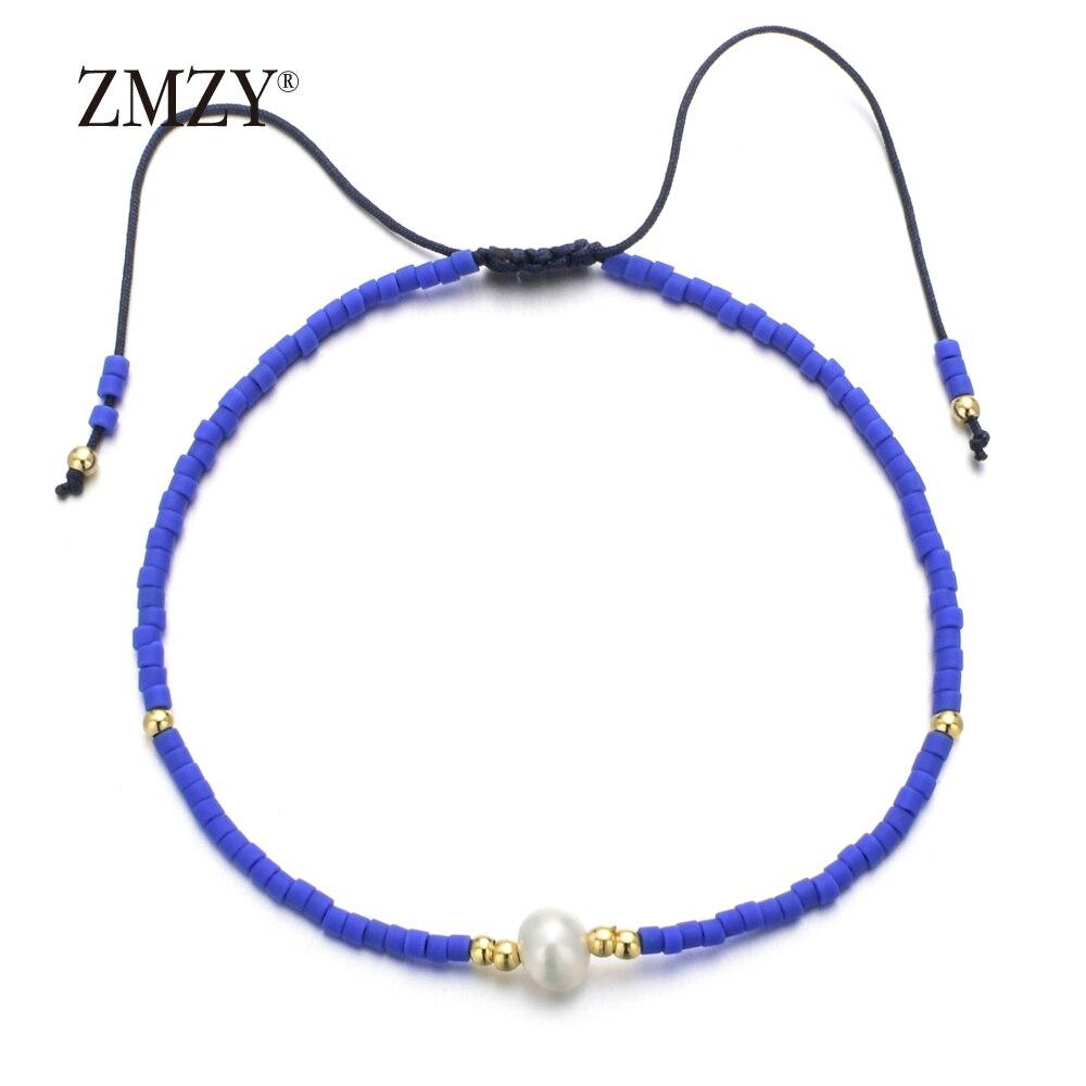 ZMZY Minimalist Freshwater Pearl Charm Bracelets for Women Dainty Tiny Bracelet Jewelry Female/Girl Crystal Beads Jewelry Gift