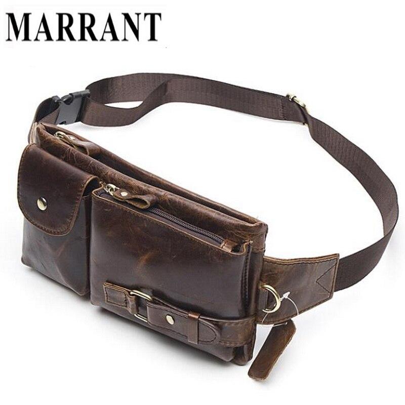 Marrant Genuine Leather Waist Packs Fanny Pack Belt Bag