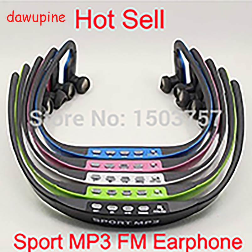 dawupine E508 Sport Stereo Earphones with FM Radio and MP3 Player support TF card running wireless headset earphones earphones and headphones bluetooth wireless sport handsfree with microphone fm radio mp3 player tf card wired stereo headset
