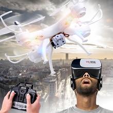 RC Quadcopter Drone avec Caméra avec VR Verre FPV Drones WiFi téléphone Contrôle Vidéo En Direct Photo RC Hélicoptère UAV Dwi Dowellin D4