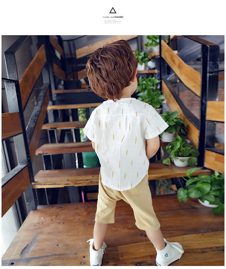 2019 New Kids Clothes Spring Boys Clothing Sets T Shirt + Shorts Toddler Boys Clothing Baby Boy Fluid Systems Clothes Brand 33