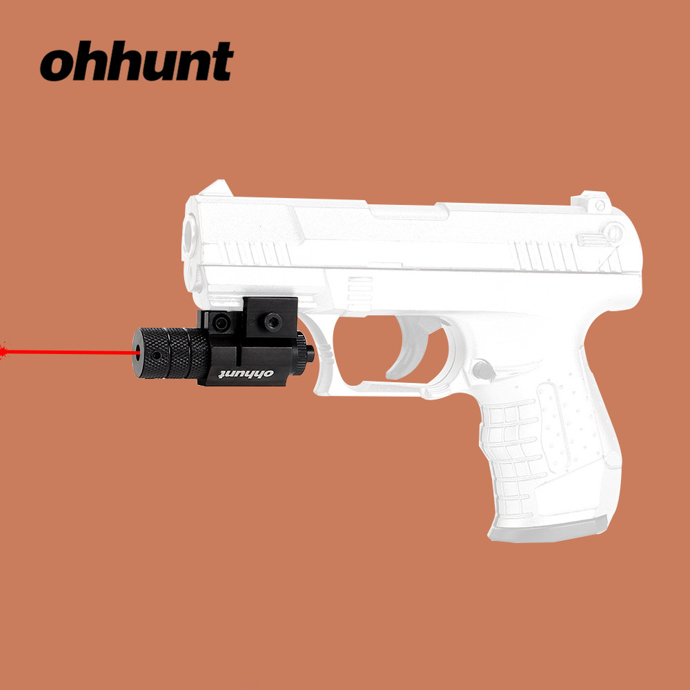 Ohhunt JG5 Tactische Red Dot Laser Sight Scope Zwaluwstaart of Picatinny Rail Mount voor Jacht Rifle Pistool Shotgun