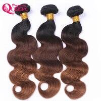 #1B/4/30 Цвет Средства ухода за кожей волна 3 пучки Ombre бразильского Человеческие волосы Weave Ombre Наращивание волос без Волосы Remy мечтая Queen Hair