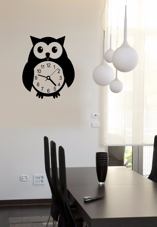 Free Shipping Wall Stickers Vinyl Art Decal Owl Clocks Bird Nursery ...