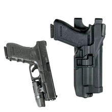 Military Police Army Gun Case Tactical Right Hand Holster For Glock 17 19 22 23 31 32 Waist Light Bearing