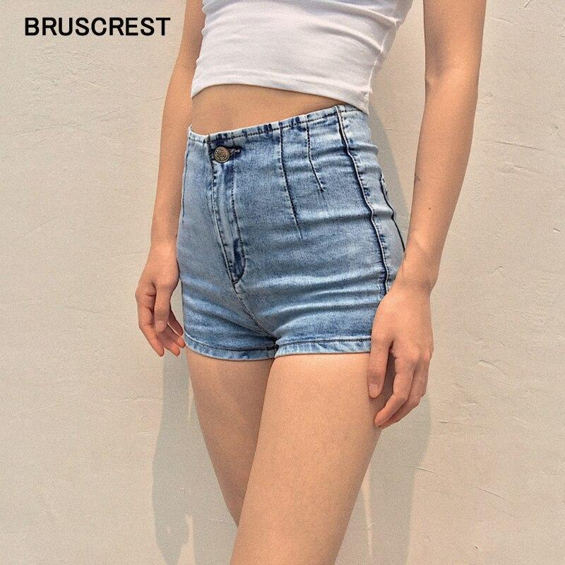 Vintage Sexy Mini High Waist Shorts Women Booty Black Denim Shorts Mujer Feminino Jean Shorts Women Summer 2019