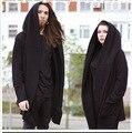 2016 hip hop men sportswear men fleece long hooded cardigan Cape Cape coat Dark soul style XXXXL hoodies mens. 100% cotton