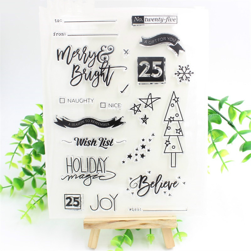 Wish List Transparent Clear Silicone Stamps for DIY Scrapbooking/Card Making/Kids Christmas Fun Decoration Supplies tools transparent clear silicone stamps for diy scrapbooking card making kids christmas fun decoration supplies