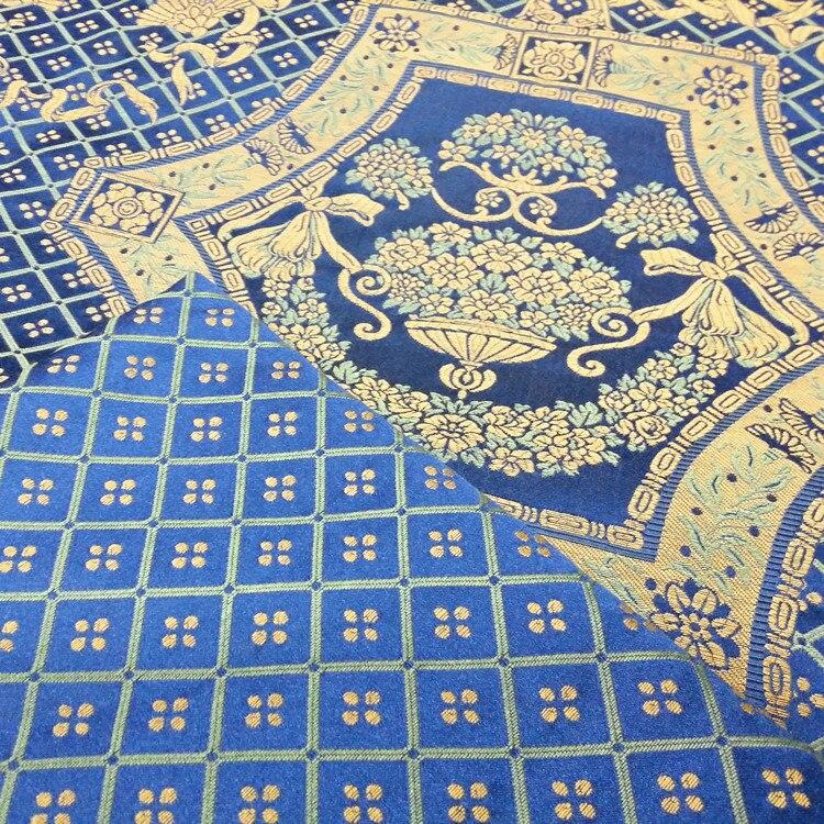 2 barvy francouzský styl modrá červená královská kytice - Umění, řemesla a šití