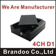 School bus MDVR, 4 channel recording, 2TB HDD memory supported, used on bus,taxi,truck,mini train,model BD-335