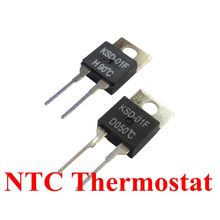 50PCS KSD-01F/JUC-31F 0C-150C dergree thermostat temperature switch thermal fuse resettable 5C/20C/35C/40C/55C/75C/80C/90C/95C