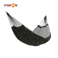 200 145cm Outdoor Portable 2 People Camping Hammock Garden Swing Set Parachute Indoor Camouflage Thicken Canvas