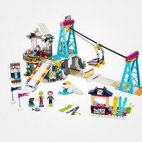 LEPIN Friends 01042 LegoINGlys Snow Resort Ski Lift Gift Club Ski Vacation Skiing Figure Building Blocks