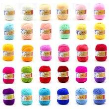 500 g/lote 10 bolas macias de fibra de seda, tricô fio de bebê macio quente para mão de tricô ecológico fio de bebê para tricô