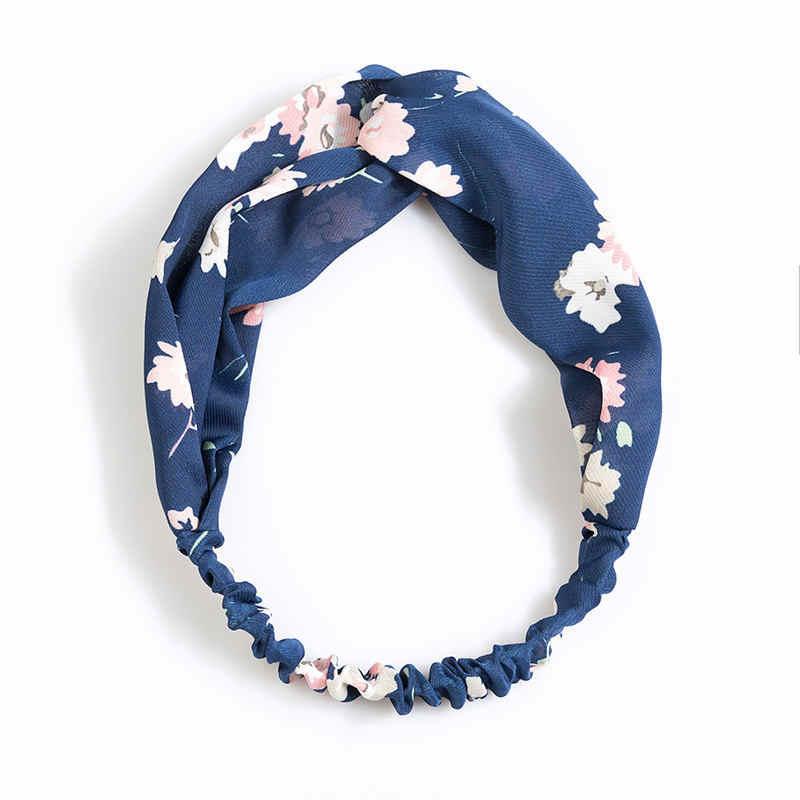 Diademas bohemias estampadas de chico y niña, turbante Cruz retro, Bandanas, diademas, accesorios para el cabello para mujer