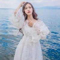 Spring Women's Long Dress Royal Embroidery Sleepwear Vintage Nightgown Long Sleepwear Women Nightgown Lace Nightdress