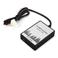 Car AUX USB Interface Adapter 3.5mm AUX Cable Input SD MP3 Player Radio Interface Adapter for NISSAN Infiniti FX35/FX45