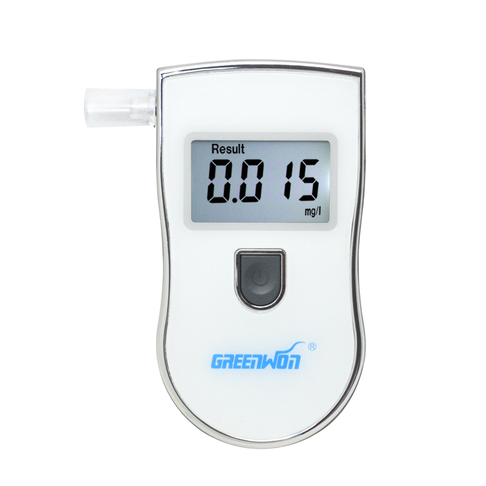 2016 NEW Hot selling Professional Police Digital Breath Alcohol Tester Breathalyzer AT818S Free shipping