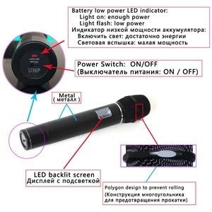 Image 4 - Freeboss FB U09 Dual Way Digital UHF Wireless Microphone with 2 Metal Handhelds