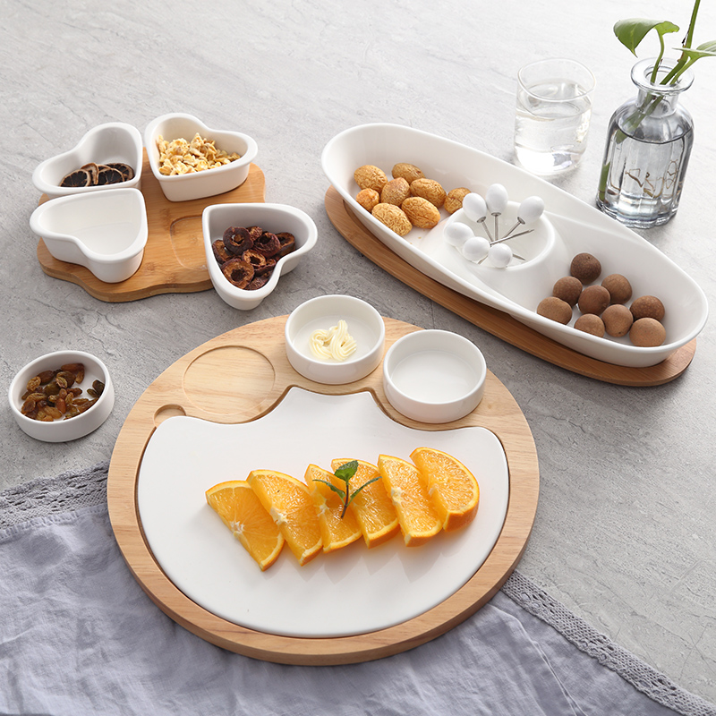 Round combination Fruits Platter Serving Trays 1