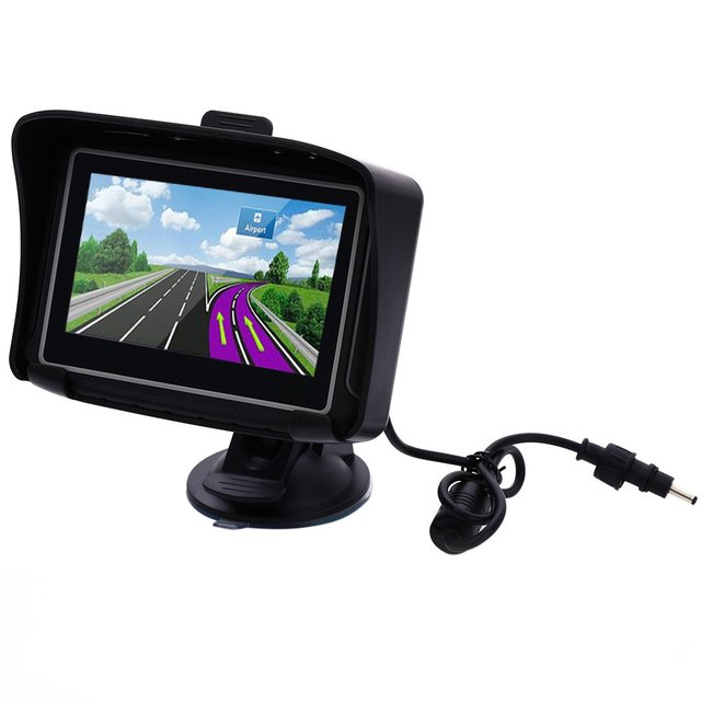 """Mais novo 4.3 """"À Prova D' Água IPX7 Motocicleta MOTO navegador GPS de Navegação com bluetooth FM 8G Flash MT-4301 Prolech GPS Moto"""