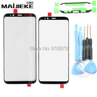 Genuine Front Outer Screen Glass Lens Black Replacement For Samsung Galaxy S8 S8 Plus Front Screen