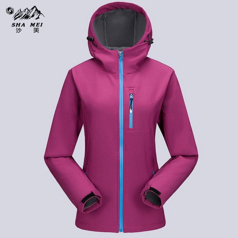 Women Trekking Rain Coat Female Windproof Waterproof Jacket Women's Winter Fleece Softshell Outdoor Hiking Jackets