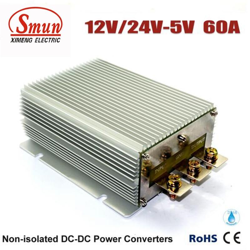 все цены на 60A DC/DC Converter Voltages 12V 24V Reducer to 5V 300W LED Display Power Supply онлайн
