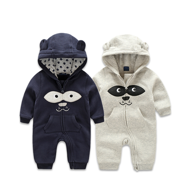53630e43e75f Autumn Warm Double Layer Thick Cotton Baby Rompers Boys Full Sleeves ...