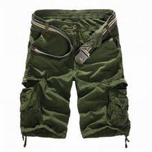 Laamei New 2018 Men Cargo Shorts Casual Loose Short Pants Camouflage Military Summer Style Knee Length Plus Size 8 Colors Short(China)